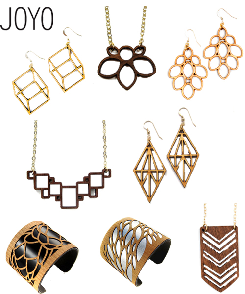 Laser Cut Wood Jewelry By Joyo