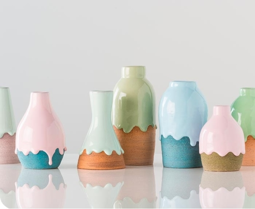 Dipped Earthenware Vases At Gretel Home