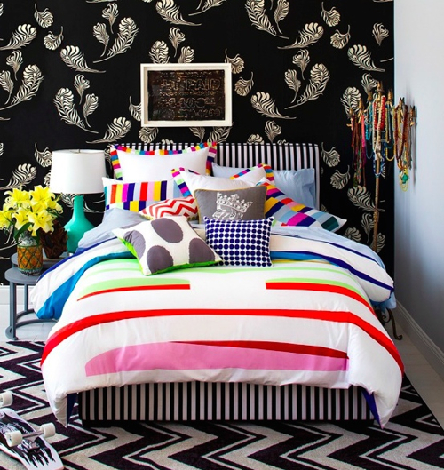 Novogratz-Walmart-Striped-Duvet-Bedroom