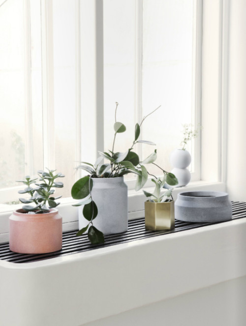 Pastel & Brass Flower Pots By Ferm Living