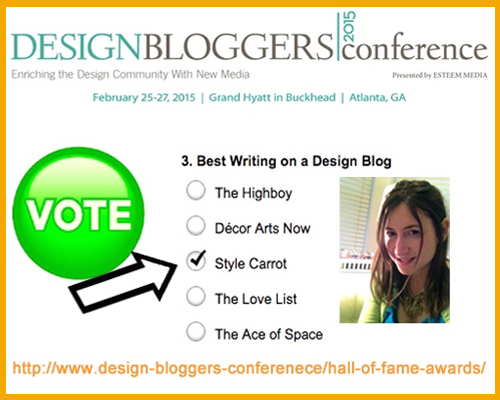 Style Carrot Nominated For Award At Design Bloggers Conference