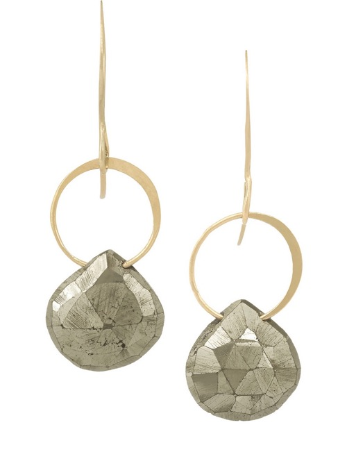Pyrite & Gold Earrings By Melissa Joy Manning At Net A Porter