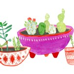 ARTmonday: Adorable Plant Watercolors by Lindsay Gardner