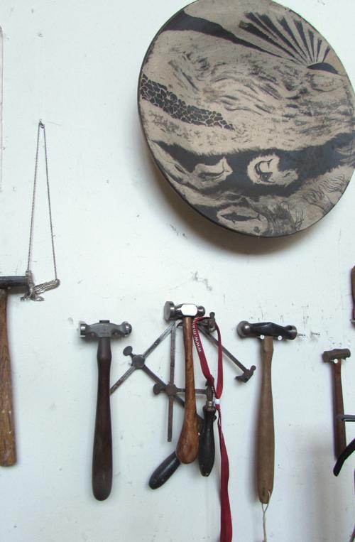 wellfleet-jewelry-studio-workroom-hammers