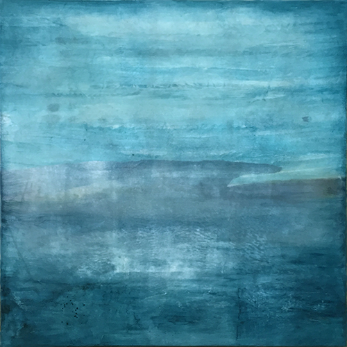 Encaustic Landscape By Boston Artist Linda Cordner