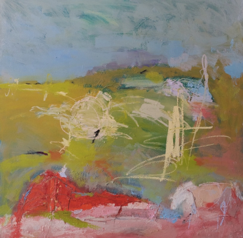 Abstract Painting By Boston Artist Barbara Leiner