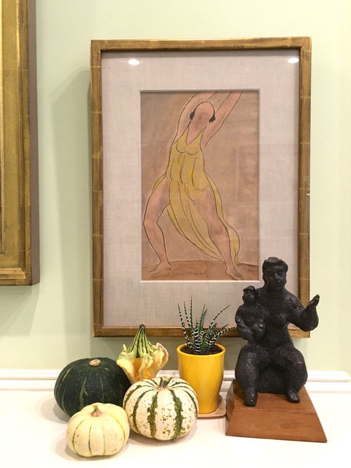 Using Gourds To Style Your Mantlepiece In Fall
