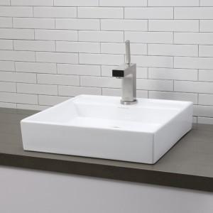 Contemporary Square White Porcelain Sink