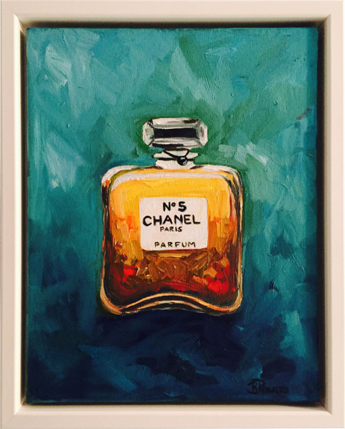 Still Life of Chanel Perfume Bottle By Betsy Powers At MassArt Auction