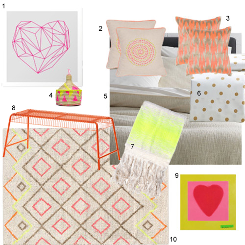 Neon Accents For The Bedroom Decorating A Summer House