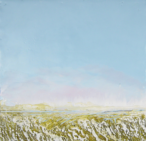 Abstract Landscape Encaustic By Ruth LaGue