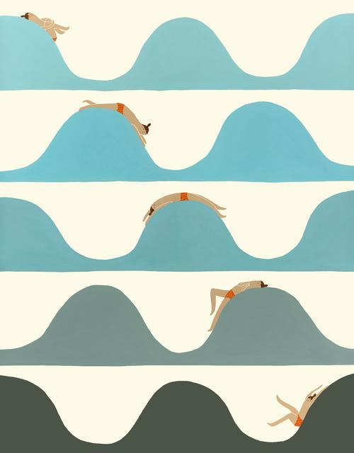 Ocean Wave Illustration Laura Berger