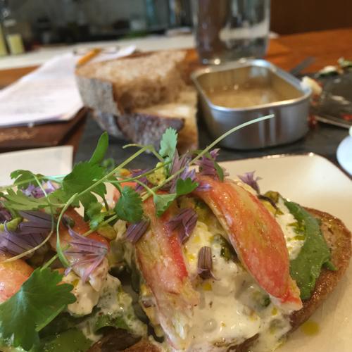 Stone Crab Toast At Saltie Girl In Boston