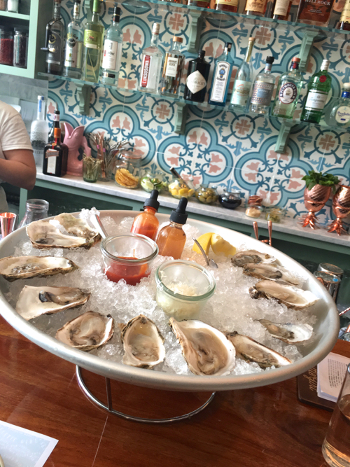Oyster Platter At Boston Raw Bar Saltie Girl