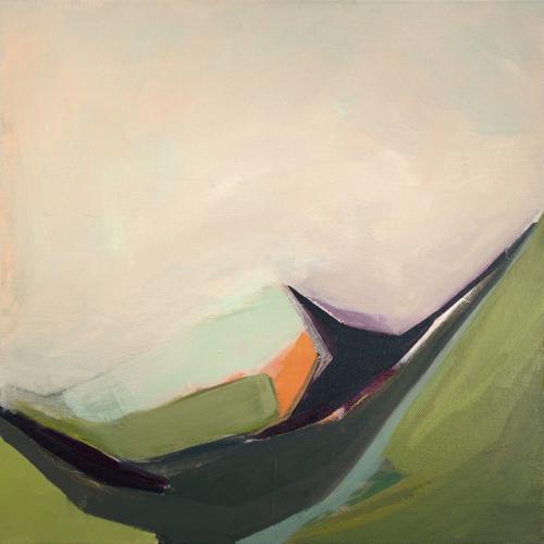 Portland Maine Artist Amanda Hawkins Abstract Landscape Painting