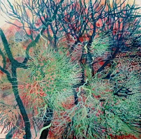 Kishore Kumar Abstract Forest Contemporary Indian Art