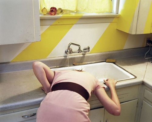 Photographer Anastasia Cazabon Head In Sink