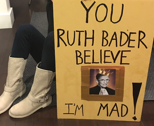 Boston Women's March Sign You'd Ruth Bader Believe I'm Mad