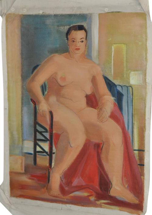 Vintage 1940s Figurative Nude Porttrait