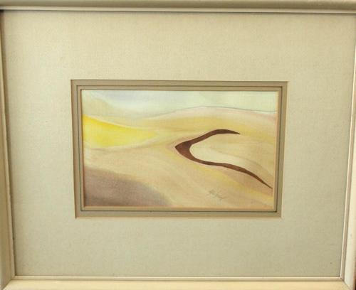 Vintage Abstract Watercolor Landscape