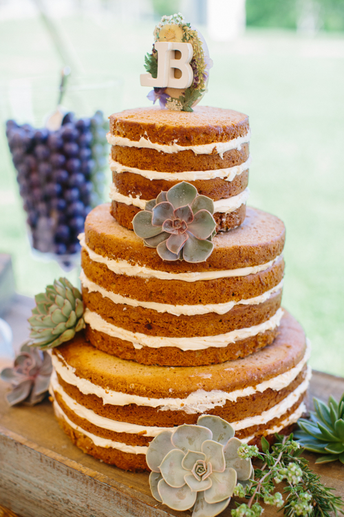 Naked Wedding Cake Delicious Desserts Cape Cod