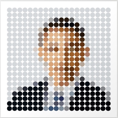 Dot Portrait Of President Barack Obama