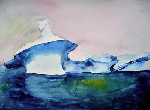 Painting Of Iceberg In Antarctica Lisa Goren