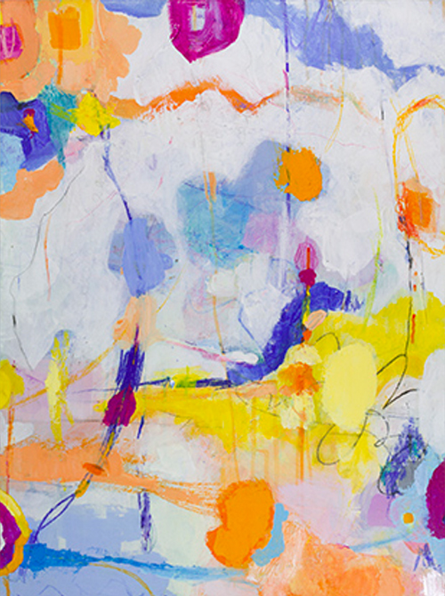 Colorful Abstract Painting By Ellen Levine Dodd
