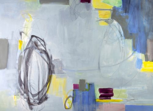 Abstract Painting With Geometric Forms By Julia Rymer