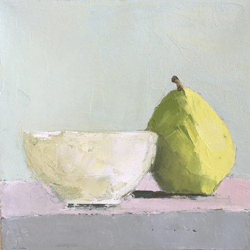 Still Life With Pear by Anne Harney At Mass Art Auction