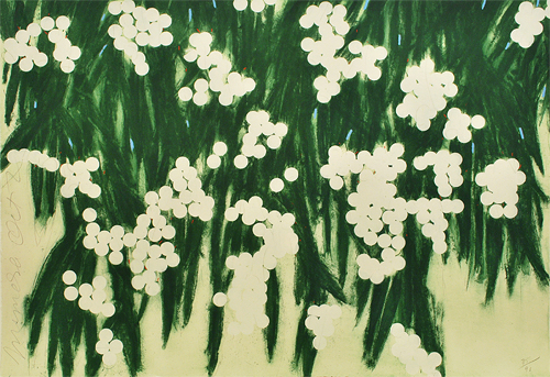 Flowers By Donald Sultan at MassArt Auction