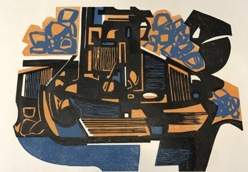 Roger Martin Woodcut Up For Auction