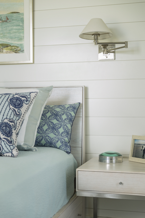 Green & Blue Beach House Guest Bedroom