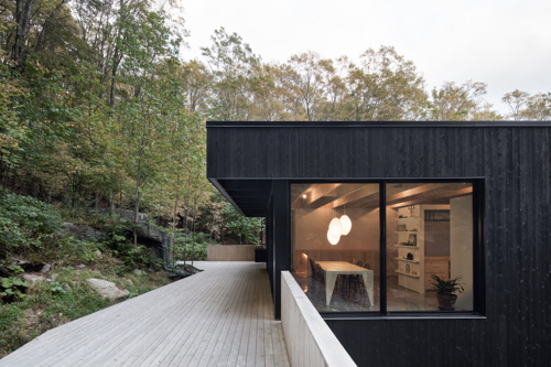 Canadian Contemporary Architecture House With Black Exterior SIding