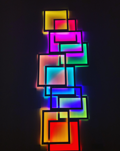 David Batchelor Geometric Neon Art