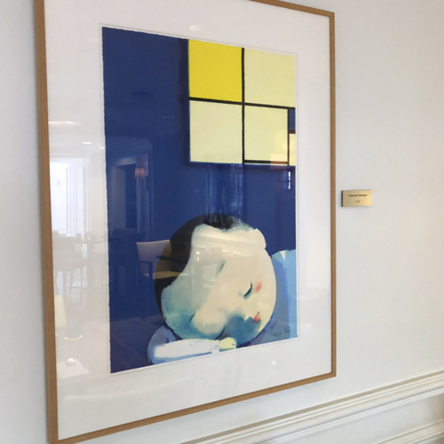 Little Boy Dreaming By Liu Ye at Hamilton Princess