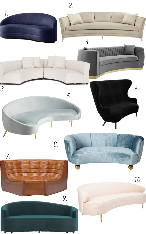 Curved Sofas Serpentine Sofas Modern Sofas