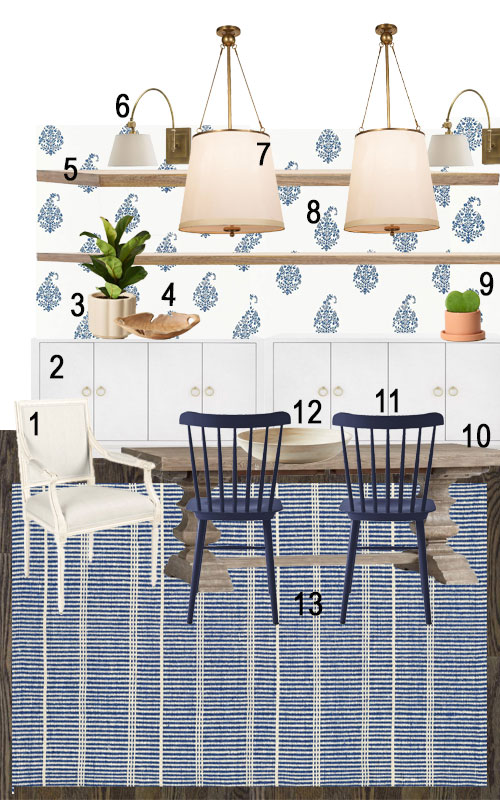 Dining Room Makeover With Farm Table And Floating Shelves