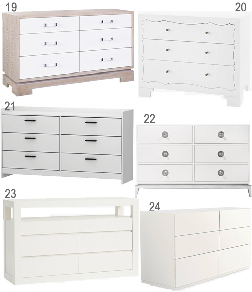 White Bedroom Furniture Modern Dressers