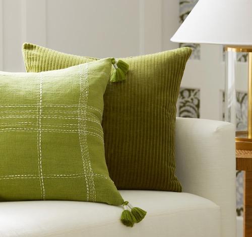 Serena & Lily Fall Throw Pillows Green Decor