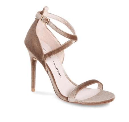 Velvet scrappy heels