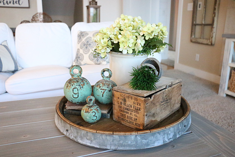 Spring Home Tour Coffee Table Vignette