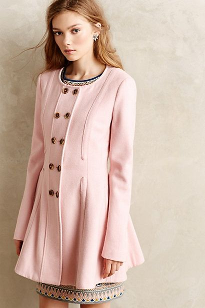 anthropologie pink coat