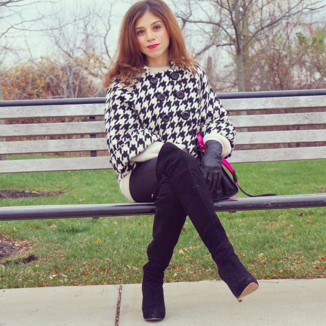 over-the-knee boots-houndstooth