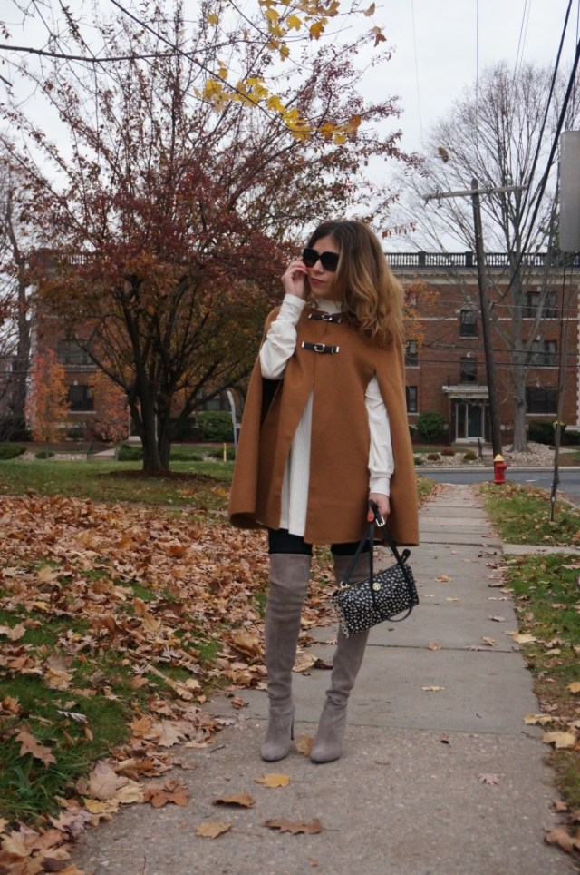 Fall trend: capes, over the knee boots