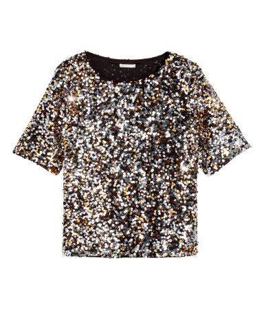 hm sequin blouse