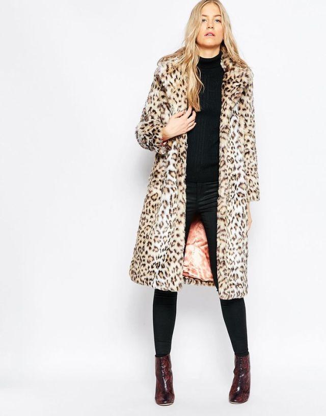 leopard print coat asos