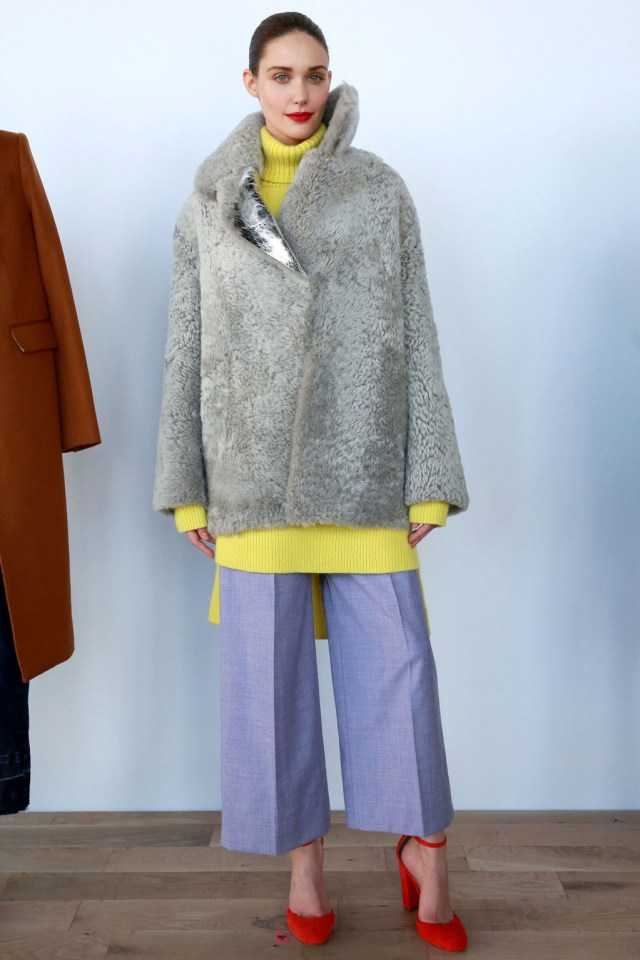 Mandatory Credit: Photo by Amy Sussman/WWD/REX/Shutterstock (5586723o) Model on the catwalk J Crew show, Runway, Fall Winter 2016, New York Fashion Week, America - 14 Feb 2016