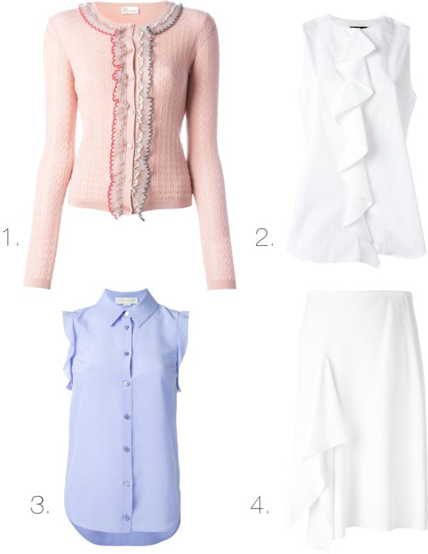ruffles for work spring trends