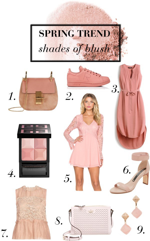 shades of blush spring trend